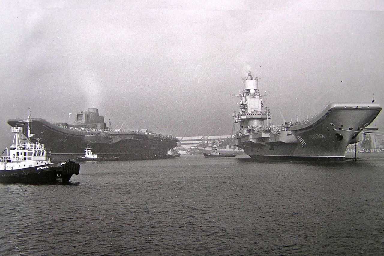 one rare picture the current russian navy aircraft carrier admiral kuznetsov ex riga