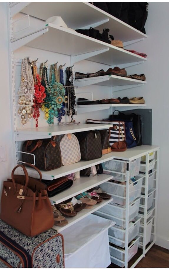 Closet Organization: Keep Your Shoes, Bags, Jewelry, Etc Organized