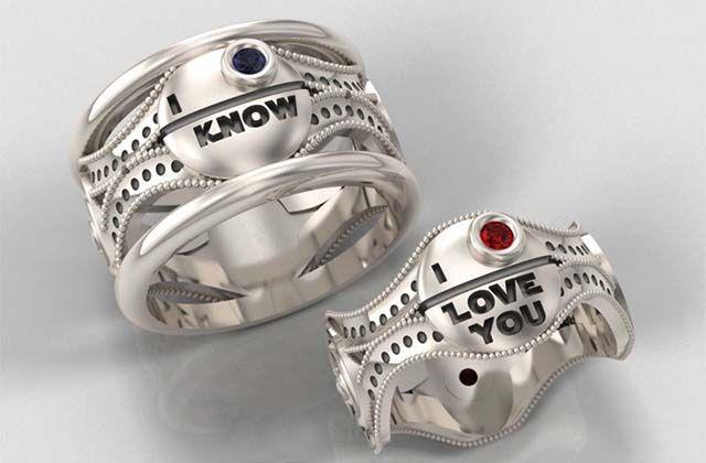 Star Wars Wedding Rings Star Fandom and Star wars stuff