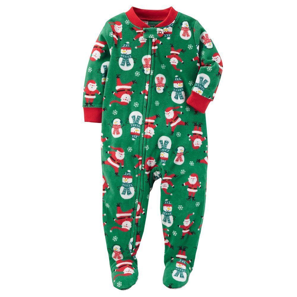 de58b698146d Toddler Boy Carter s Racing Off to Bedtime Christmas Microfleece One ...