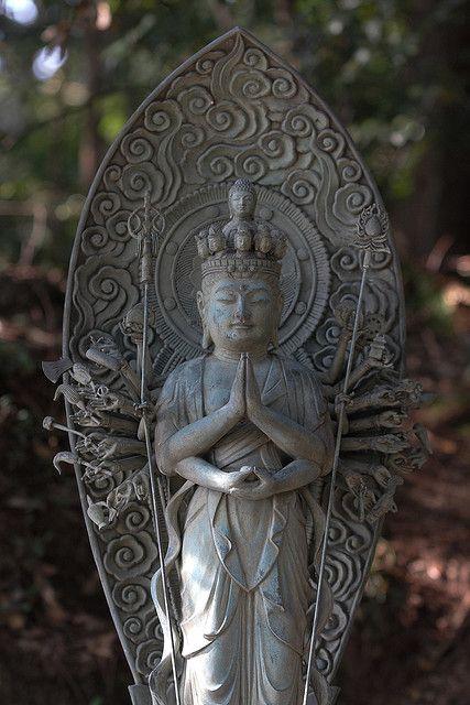 kannon buddha statue shoshasan mountain japan by luke robinson