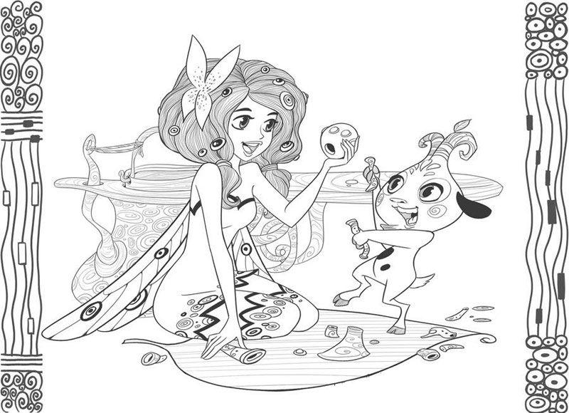 zeichnung von mia and me  ausmalbilder ausmalen