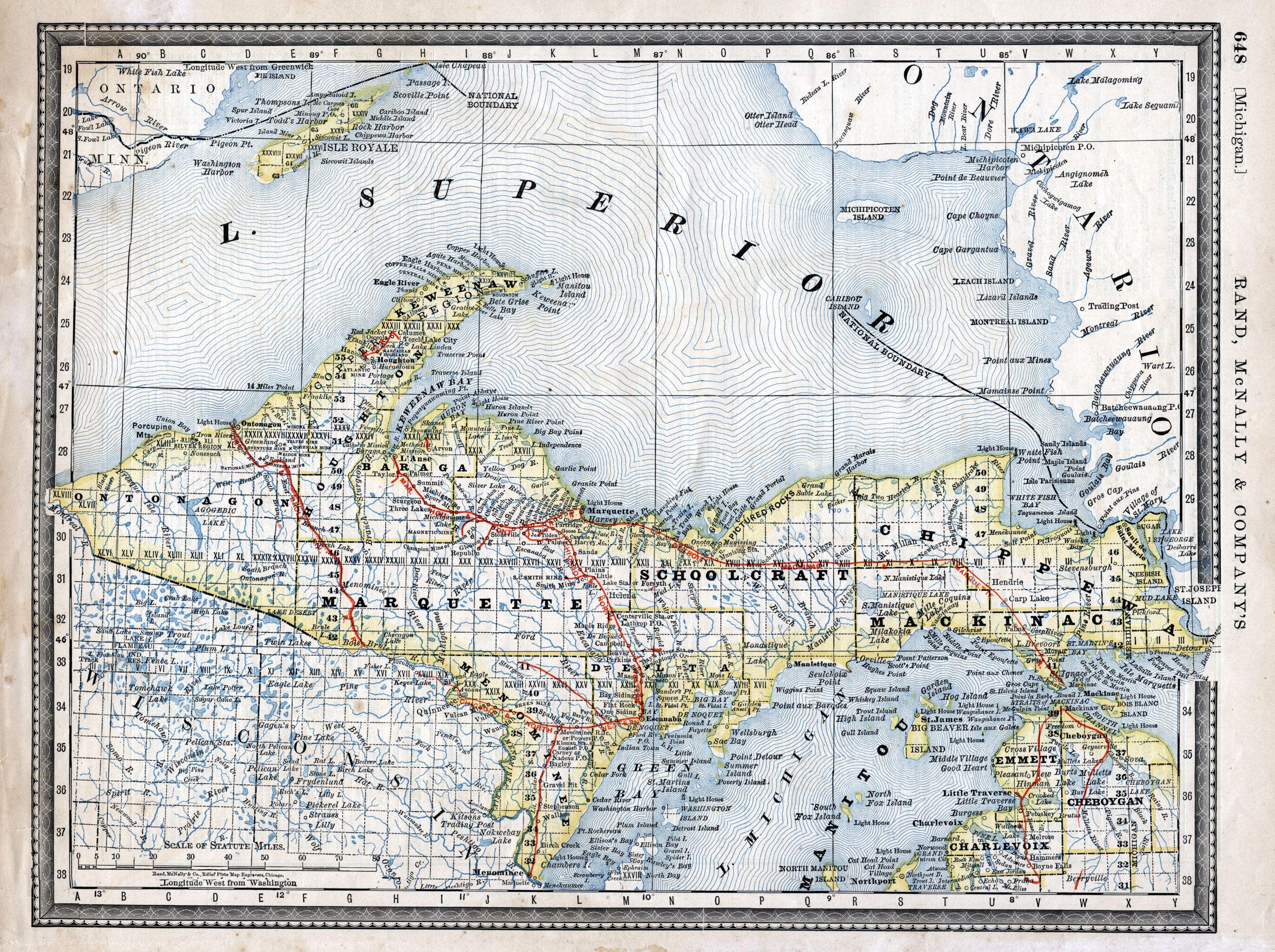 upper michigan map google Google Image Result For Http Img Lib Msu Edu Exhibits Map