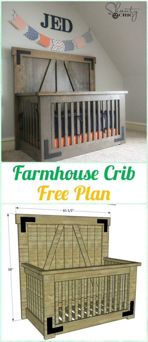 Diy Baby Crib Projects Free Plans Instructions Farmhouse Cribs