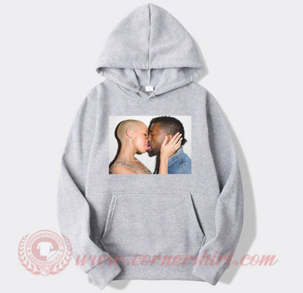 Amber Rose Kiss Kanye West Hoodie Price 35 00 Https Www