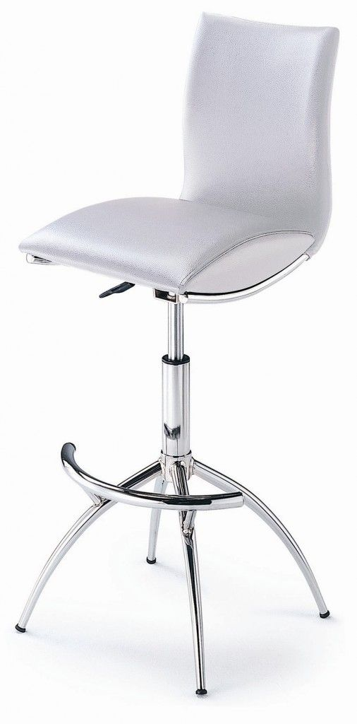35 Stylish Modern Adjustable White Leather Bar Stools White