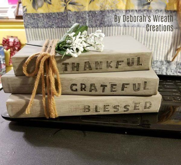 DIY Coffee Table Rustic Stamped Books in 2020 | Coffee ...