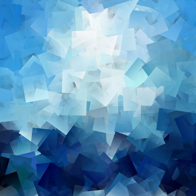 Poster - Formas em azul