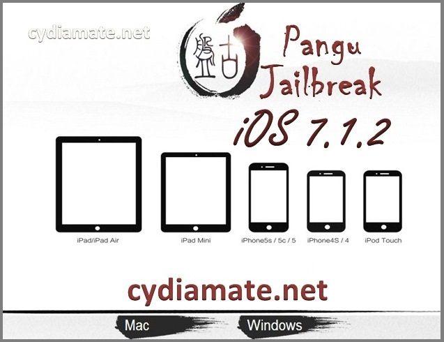 Download Pangu Jailbreak 1 1 & Jailbreak iOS 7 1 2 and Download