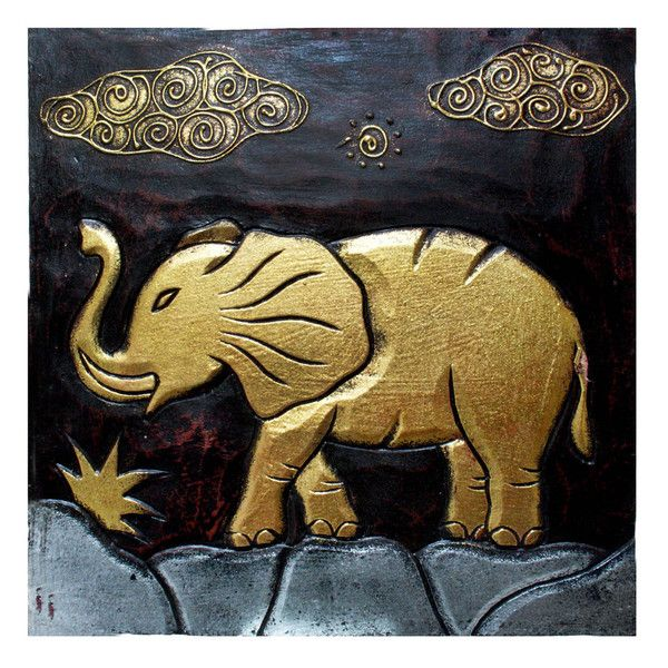 Hand-Carved \'Elephant\' Wall Panel (Indonesia) | African | Pinterest ...
