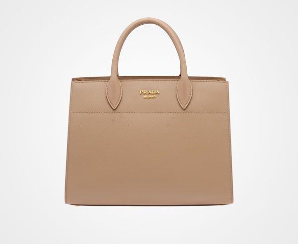 b5217cac2f3c36 Prada Woman - Prada bibliothèque bag - Cameo - 1BA049_2EVU_F0770_V_OOO