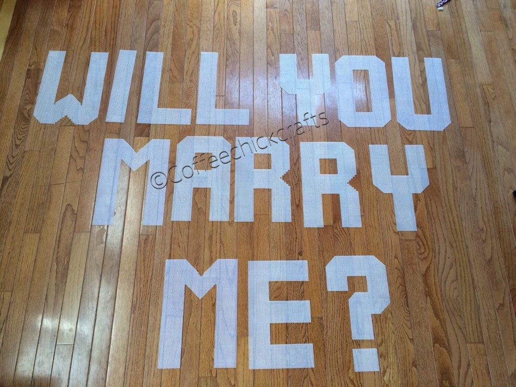 Large Will You Marry Me Proposal Letters HttpsWwwEtsyCom