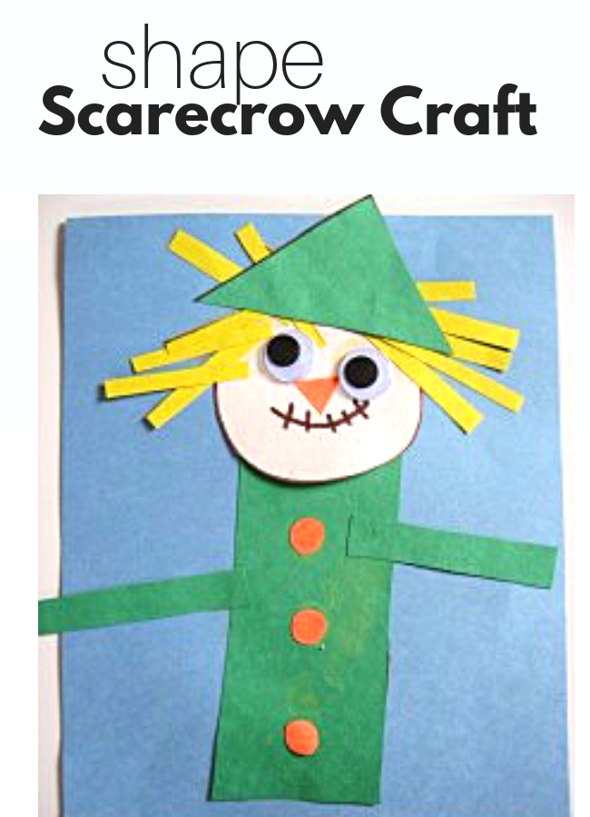 Shape Scarecrow Craft Activities For Infant 5 Yr Olds