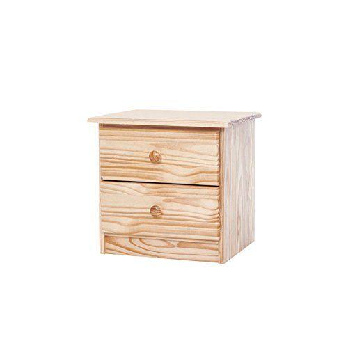 Table De Chevet Amazon chevet 2 tiroirs en pin massif: amazon.fr: cuisine & maison | table