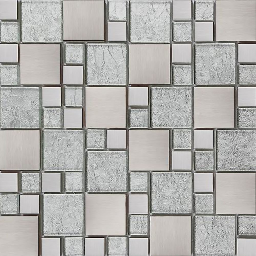 Silver Tile stickers Transfers KITCHEN BATHROOM TILES Marble Glass ...