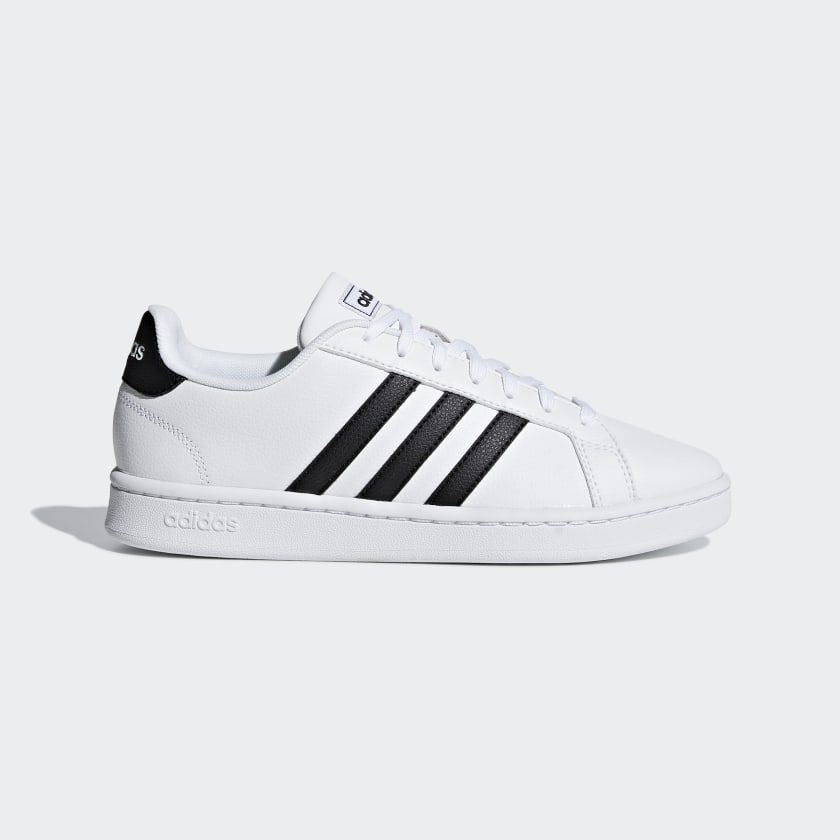 Grand Court Shoes White Womens in 2019 | Court shoes, Adidas