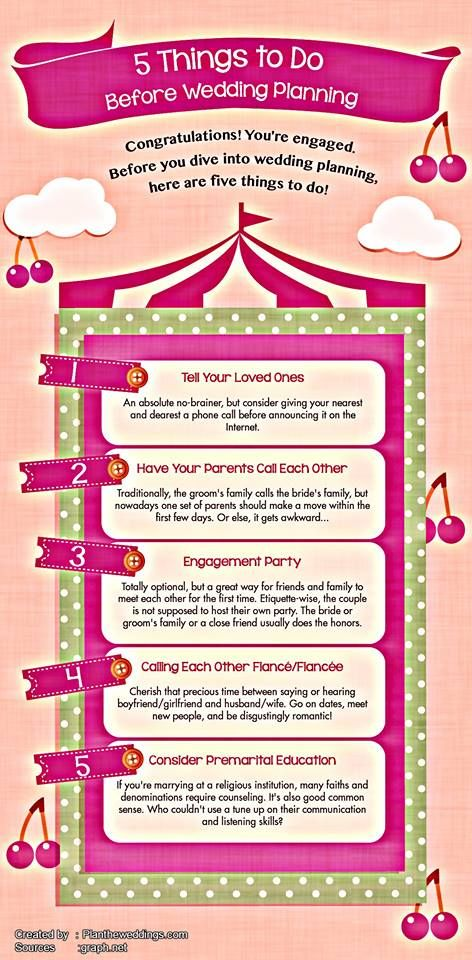 5 Things You Must Do Before You Plan A Wedding! #wedding ...