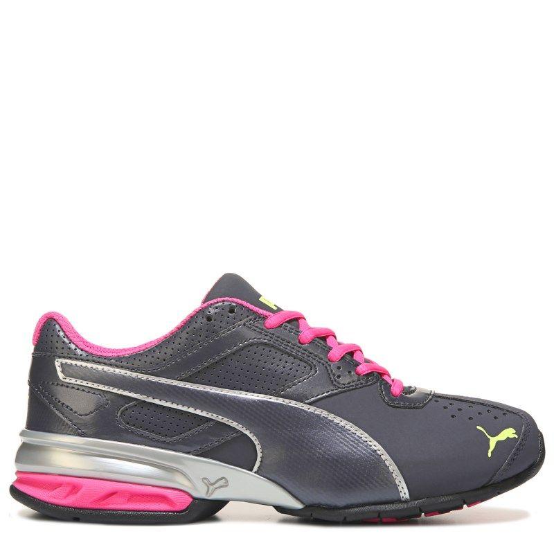 Men's PumaWomen's Tazon 6 SoftFoam Wide Running Shoe Black/ Pink