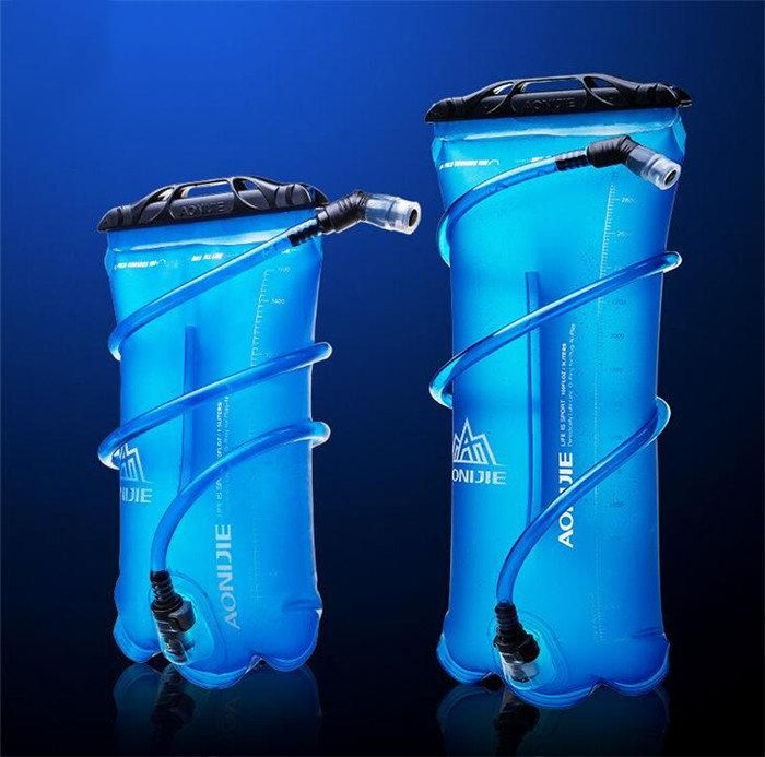Water Bladder Bag Hydration Pack Storage Climbing Bicycle Mouth Drink 2L