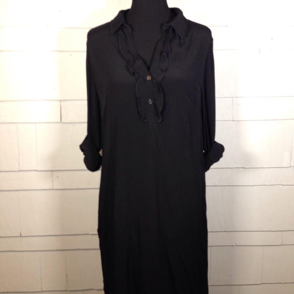 Nwt kut black ruffle detail dress black ruffle and products