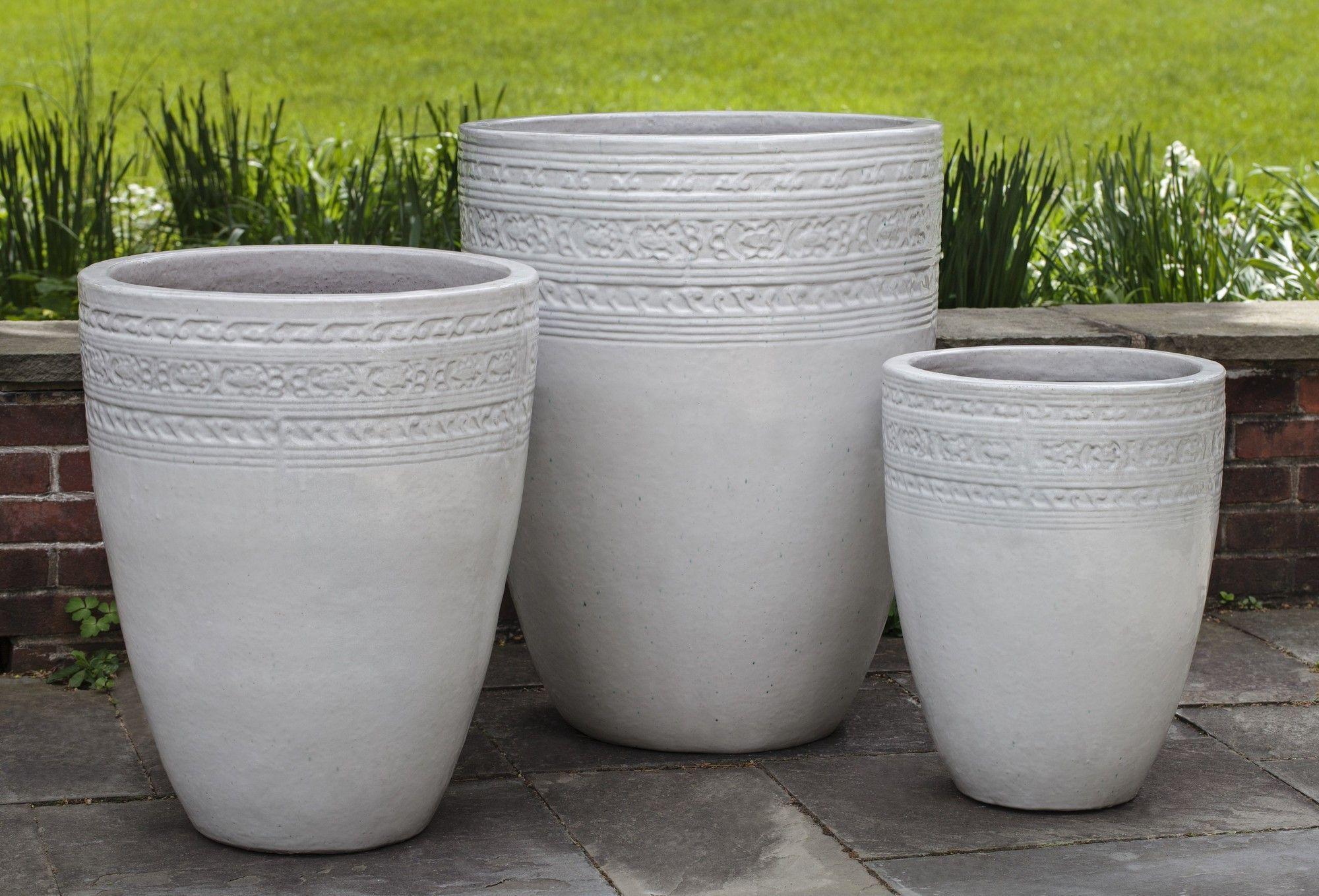 Sari 3 Piece Pot Planter Set Campania International Large Ceramic Planters Planters