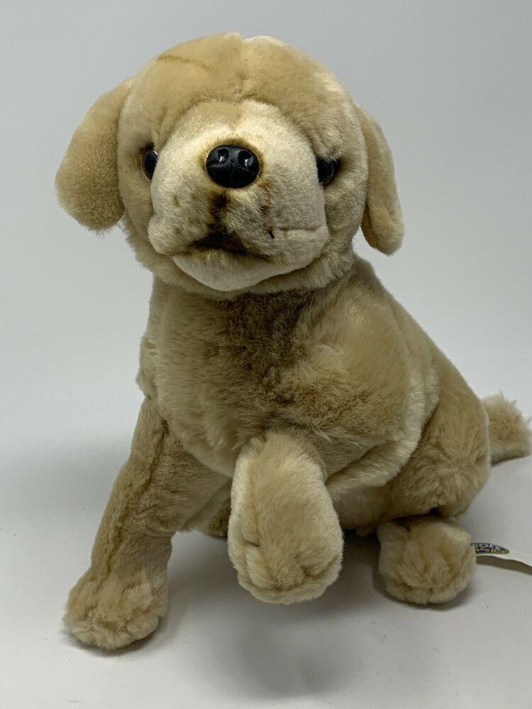 Toys R Us Golden Retriever Lab Puppy Dog Plush Stuffed Animal Toy
