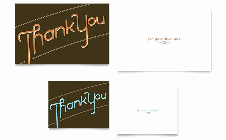 Microsoft Office Business Cards Template Inspirational Thank You Note Card Template Word Publ Note Card Template Thank You Card Template Thank You Note Cards