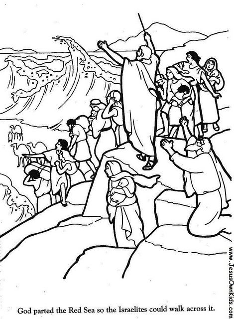 Life Of Moses Clipart Hub Coloring Pages Icons Etc Crossing
