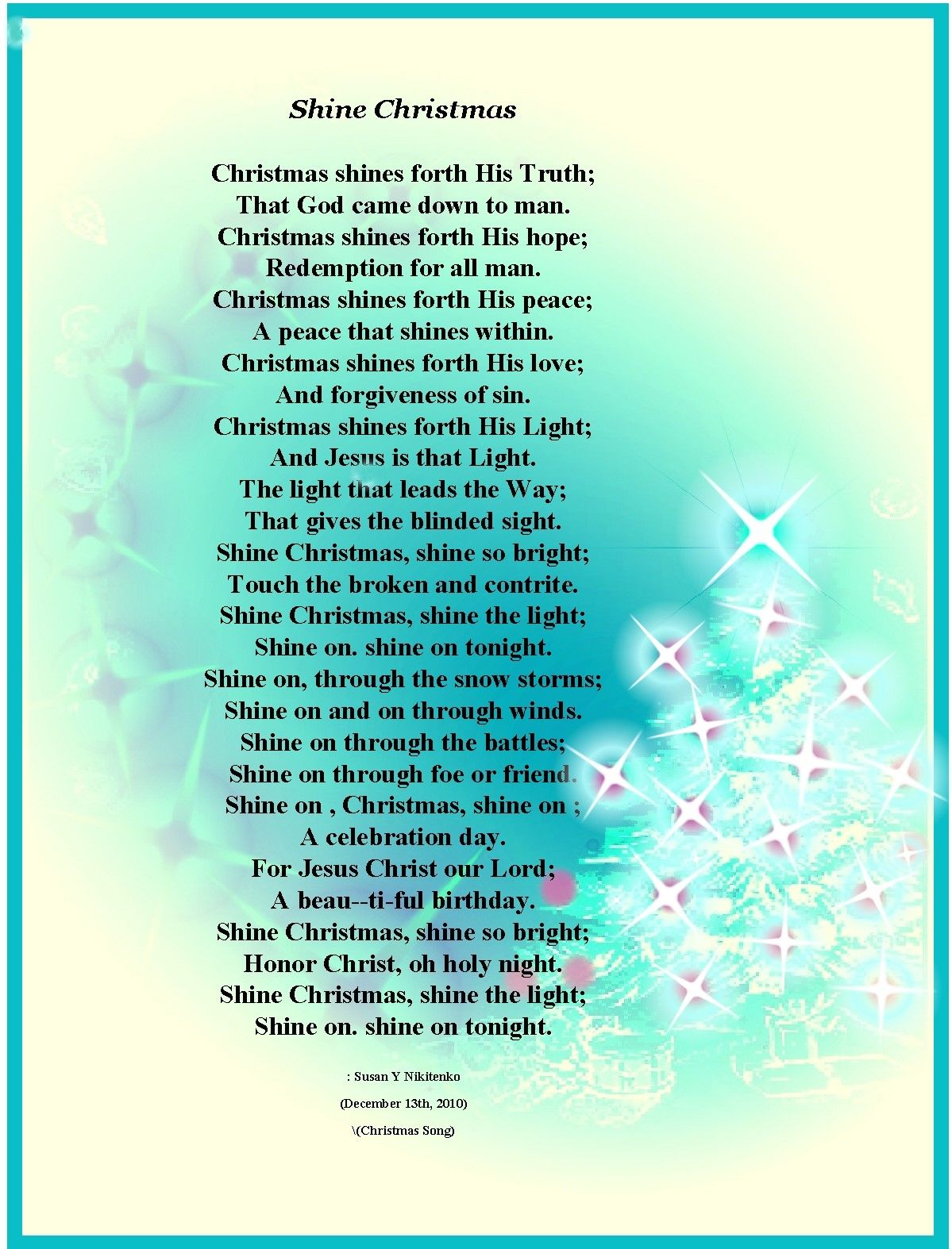 Christmas poems for church programs - Christian Christmas Poems About Angels Christian Images In My Treasure Box Christmas Poem Posters