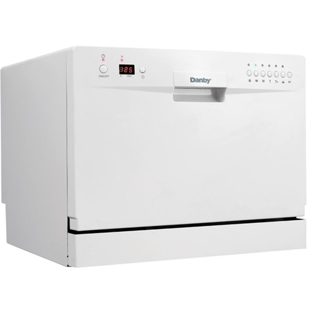 Danby Ddw611wled Countertop Dishwasher White Check Out The