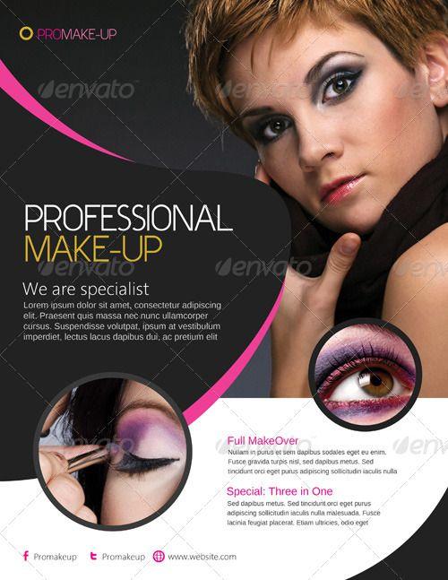 03_Makeup Flyer Template.jpg (500×647) | Flyers | Pinterest