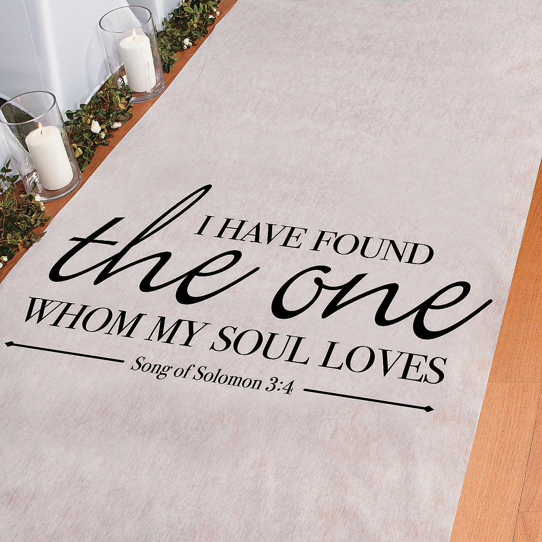 Wedding Aisle Music Ideas: Song+of+Solomon+Aisle+Runner+-+OrientalTrading.com