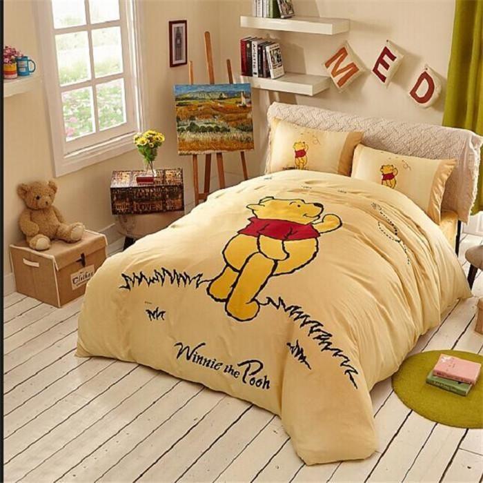 Yellow Winnie Pooh Classic Bedding In The Grass Winnie