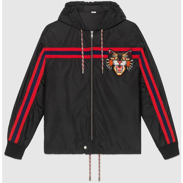 3380983edfc Gucci Nylon windbreaker with Angry Cat appliqué ( 1