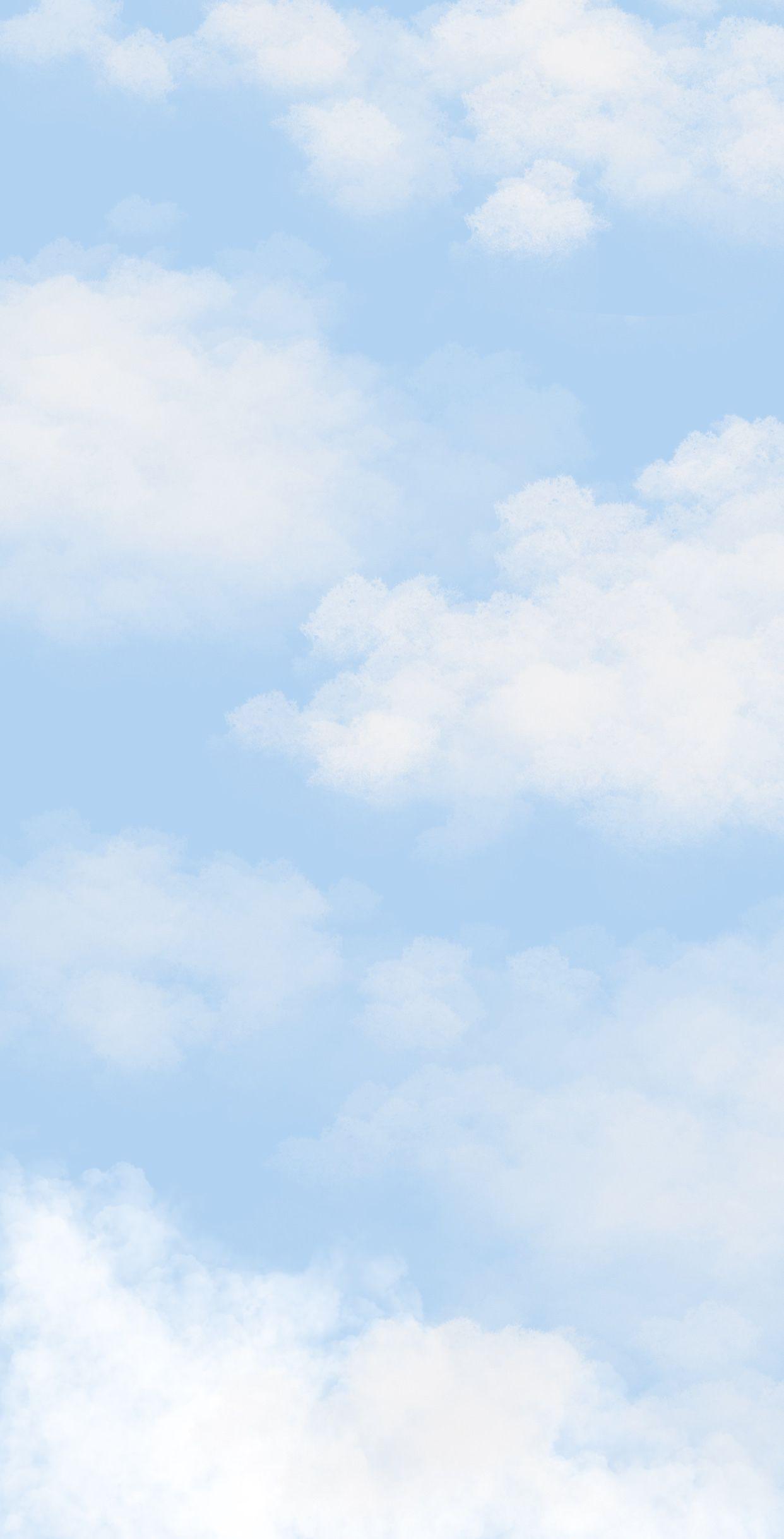Cloud Iphone Wallpaper Blue Wallpaper Iphone Light Blue Aesthetic Cute Blue Wallpaper