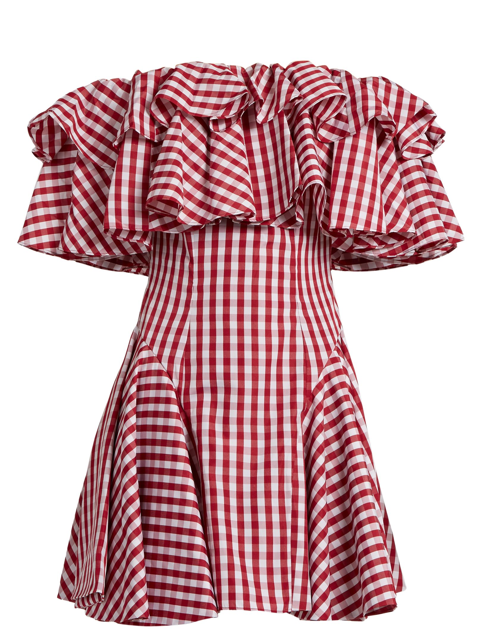 8b30c532c567 House Of Holland Off-the-shoulder gingham dress at