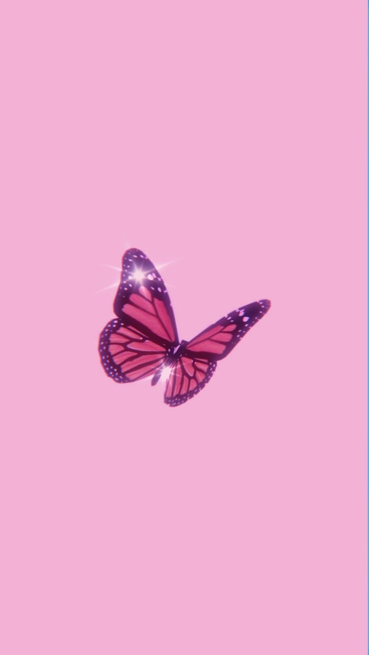 Dazzling Butterfly Pink Wallpaper Backgrounds Pink Wallpaper Girly Artistic Wallpaper