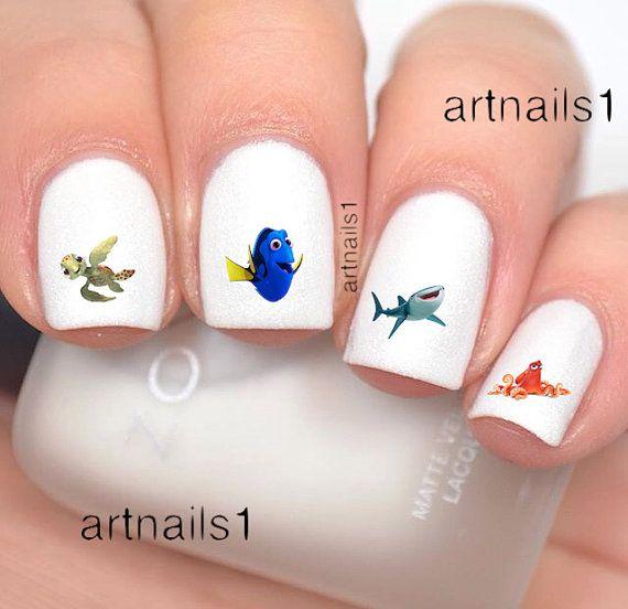 Finding Dory Nemo Squirt Nail Art Polish Manicure By Artnails1 Hi