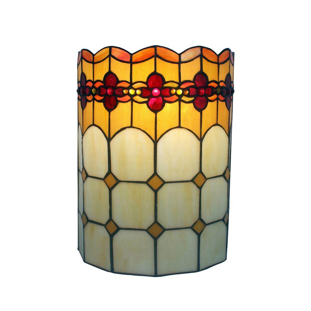 Amora Lighting Home Decorative AM090WL10 Tiffany Style 2 - light ...