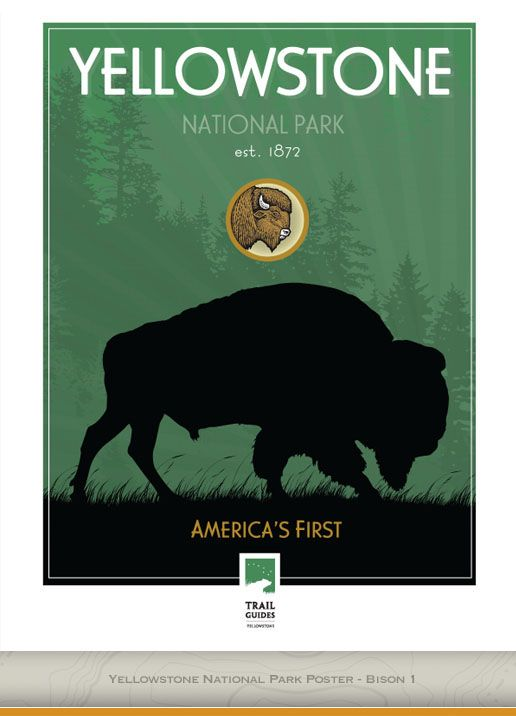 Trail Guides Yellowstone Merchandise Gear Vintage National Park Posters National Park Posters Vintage Posters