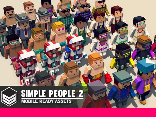 Simple People 2 - Cartoon Assets | 3D Humanoids | Unity Asset Store