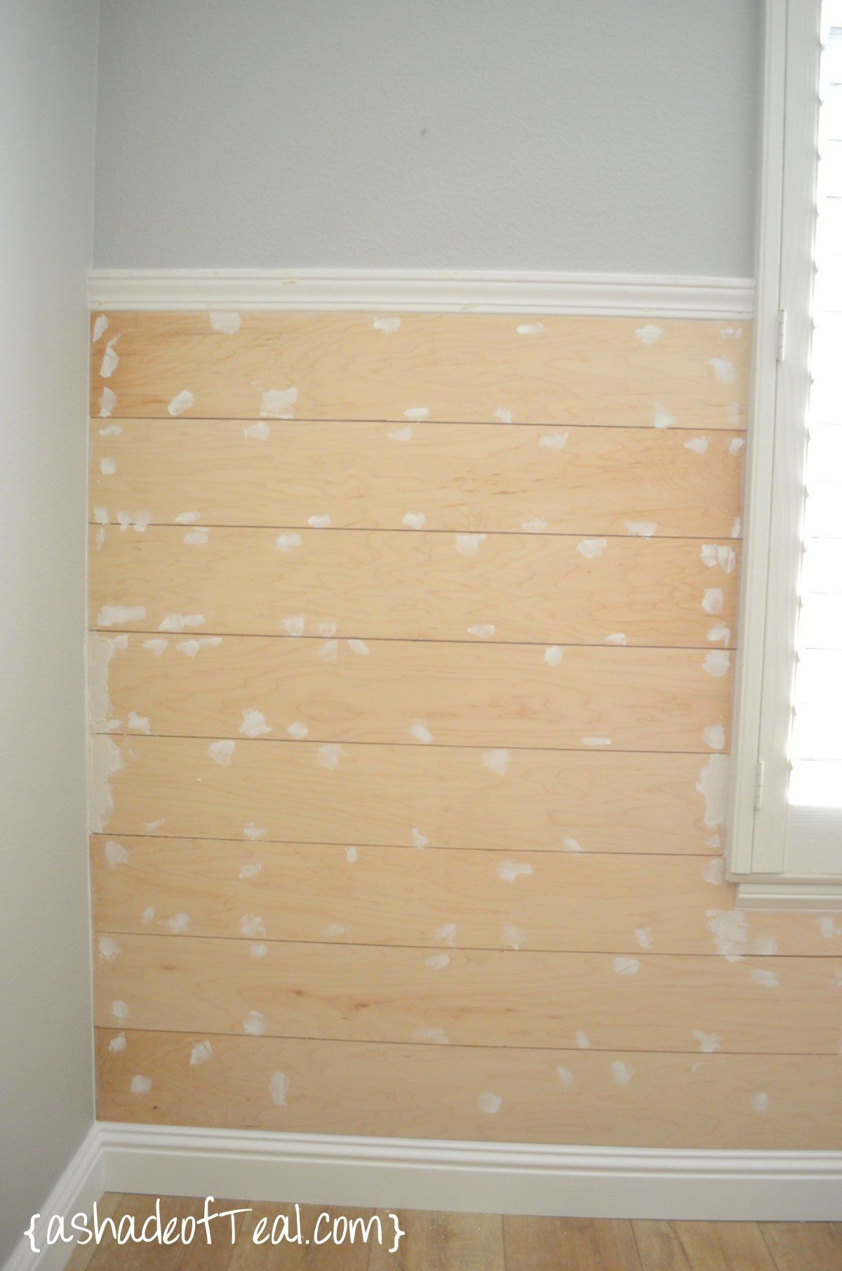 DIY- Faux Shiplap Wall | Walls, Faux shiplap and House