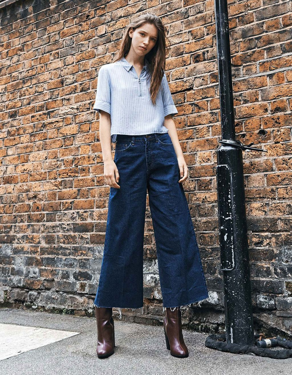 5a471a7a8b371 High Rise Paperbag Jeans en 2019 | flared, bellbottom, bootcut and ...