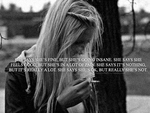 she says......