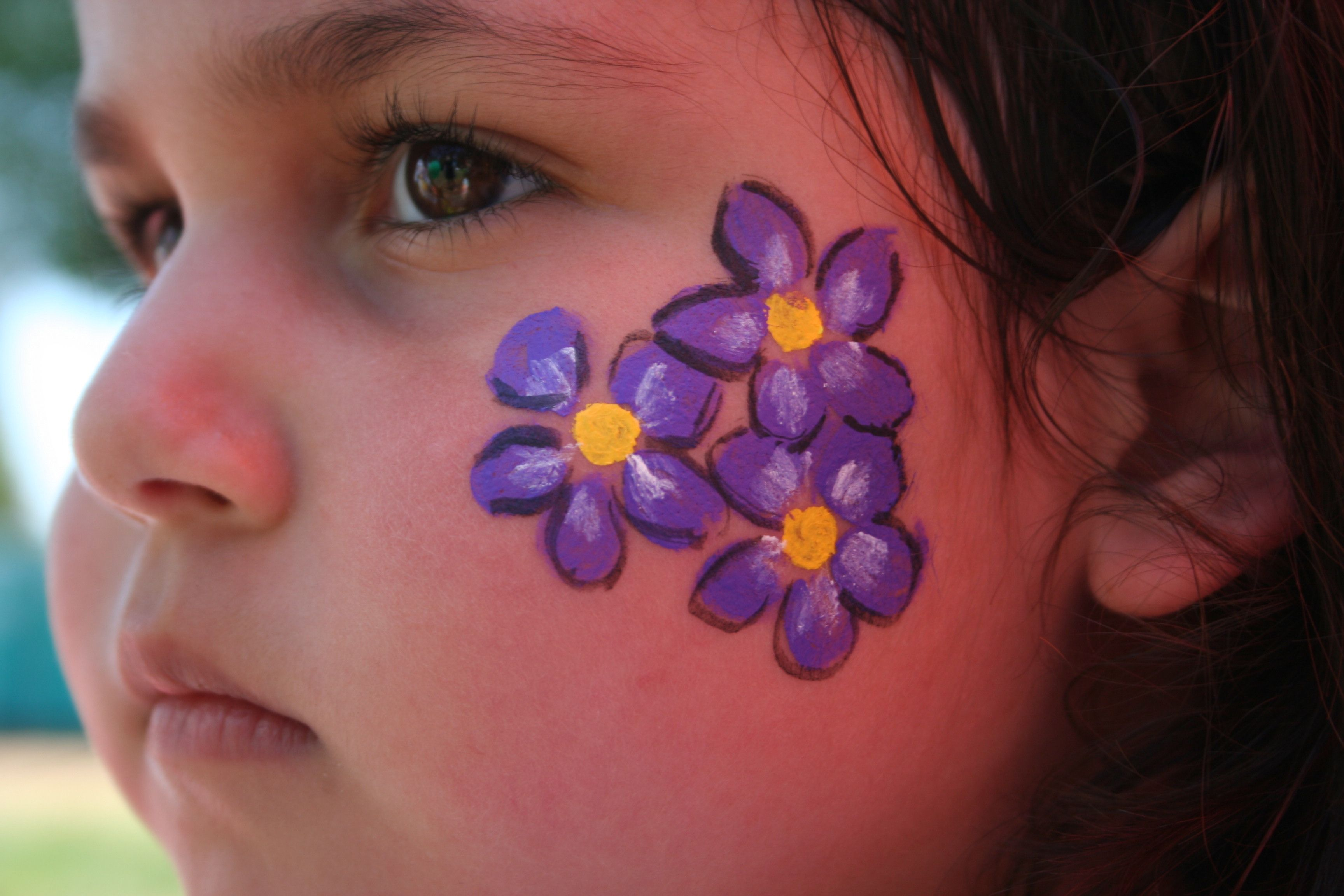 Worldfest 2012 | Face painting flowers, Easy face painting ...