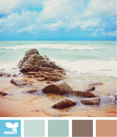 Color: Color Escape by Design Seeds - robin's egg blue, light blue, light teal, deep taupe, medium tan.