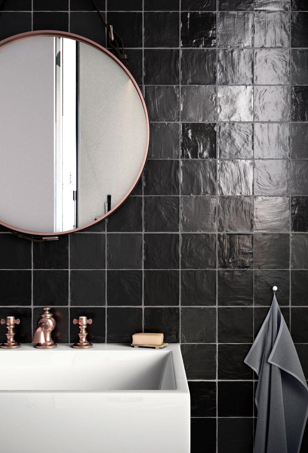 mallorca black ceramic tile 4x4 in 2021