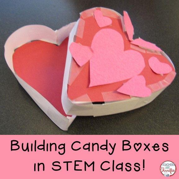 Valentine\'s Day STEM Candy Box | Stem classes, Teacher and Students