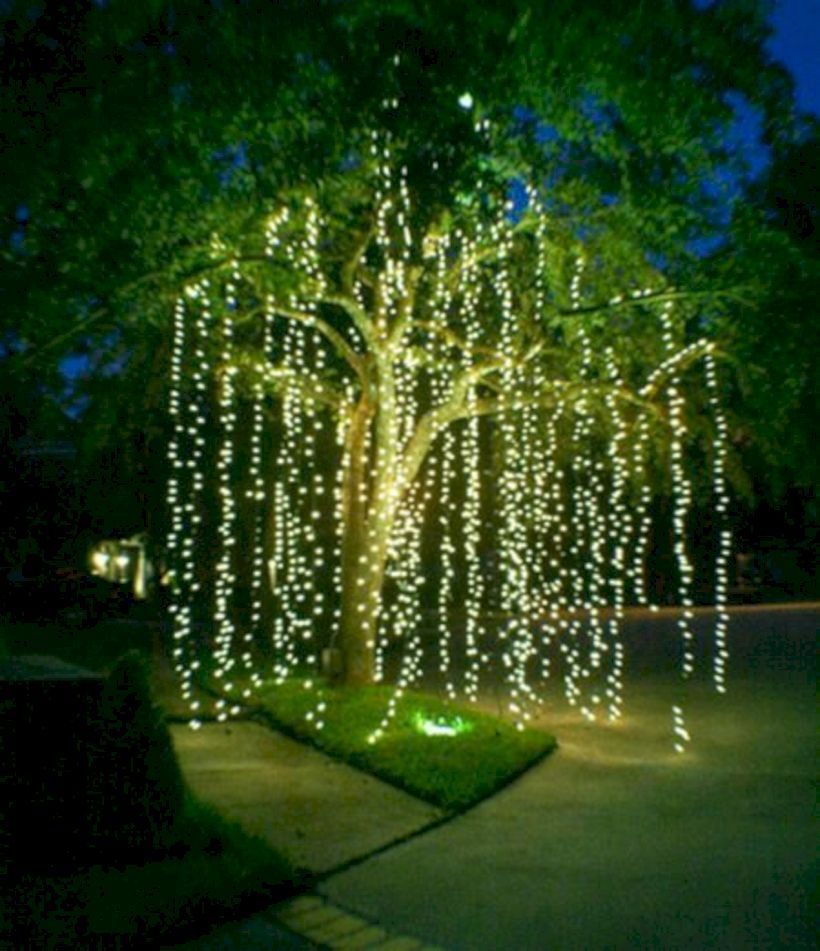 49 Affordable Landscape Garden Lighting Ideas Rustic Garden Flowers Holiday Lights Display Dream Garden Outdoor Christmas