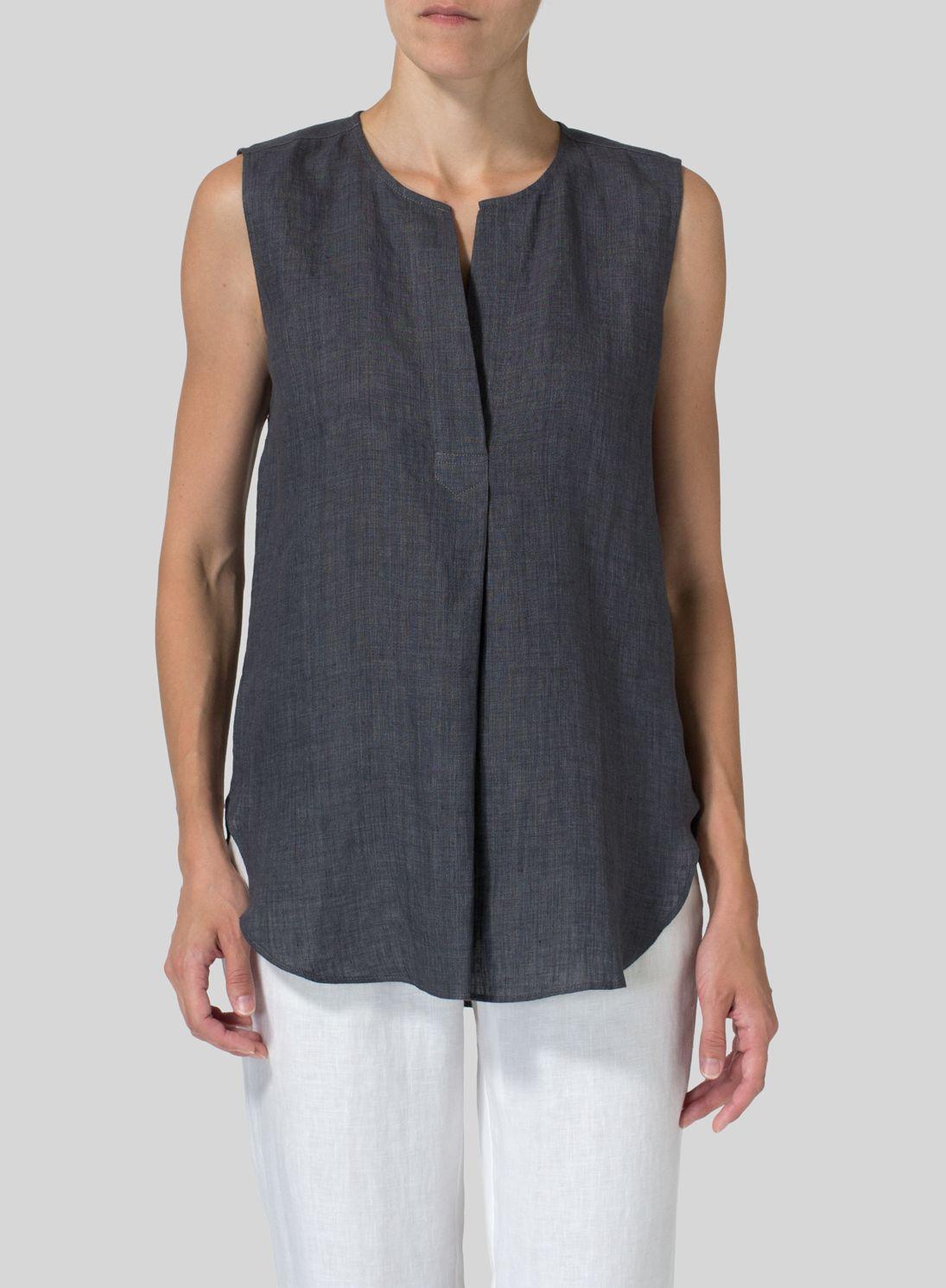 fa4e3202 Linen Surplice V-Neck Blouse | Dream Wardrobe: Tops and Covers in ...